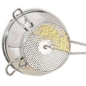 Image 3 - Broyeur professionnel à disques perforés fruits, 3 moules perforés, en acier inoxydable, boue, tamis à légumes, râpe à confiture, mélangeur daliments