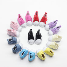5cm Denim Canvas Mini Doll Shoes Toy Hand Made Doll Accessories for Sharon Doll Boots Sneakers Girls Clothes for Bjd(China)
