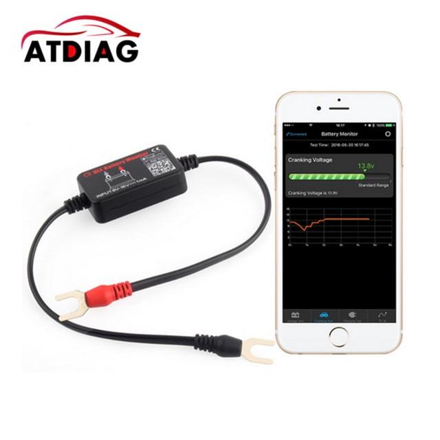 12V Bluetooth 4.0 BM2 monitorowanie baterii Tester narzędzie diagnostyczne dla android ios iphone analizator cyfrowy baterii jednostki miary