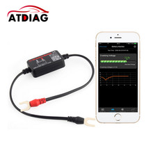 Testeur de batterie moniteur de batterie, outil de Diagnostic de voiture, 12V, Bluetooth 4.0, pour Android, IOS, iphone, analyseur numérique de batterie