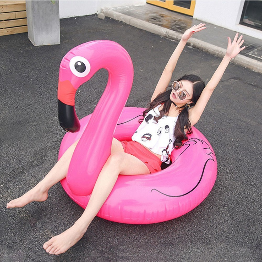 Flamingo Swimming Circle Adult Thickening Inflation Aquatic Mounts Lovely Unicorn Female pool inflatable toys YQ01