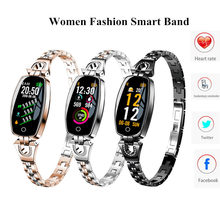 H8 Women Lady Fashion Smart Wristband Heart Rate Blood Pressure Smart Bracelet Fitness Tracker SmartBand best gift for Girl(China)