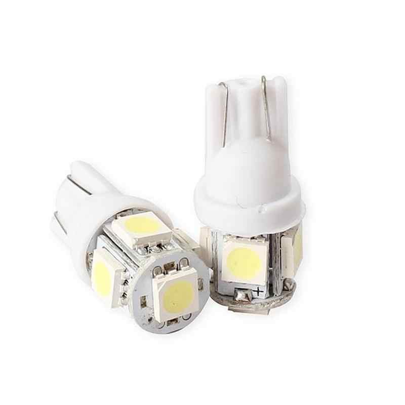 2 uds 5050 5SMD pequeña luz LED para coche Auto cuña lateral luz trasera-Lámpara de diodo emisor cc 12V accesorios para automóviles blanco