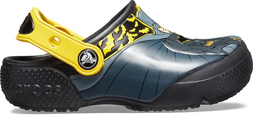 CROCS CrocsFL Iconic Batman Clog K KIDS or boys/for girls, children, kids superhero the dark knight batman variant play arts kai batman pvc action figure collectible model kids toys doll 159