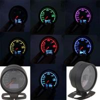 1pc 62mm/2.5in 7 Light Colors Universal LCD Display Car Auto Turbo Boost Gauge with Voltage Meter for Universal Car High Qualit
