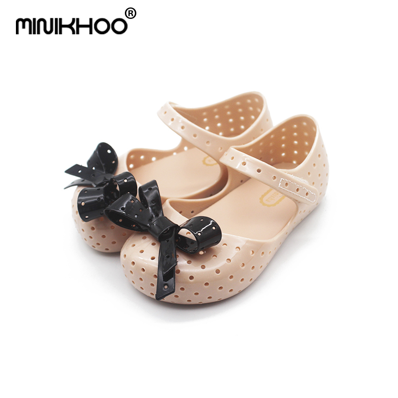 Mini Melissa New Bow Brazil Girls Jelly Sandals 2019 Summer Children Shoes Baby Princess Melissa Sandals Non-slip 14.5cm-17cm