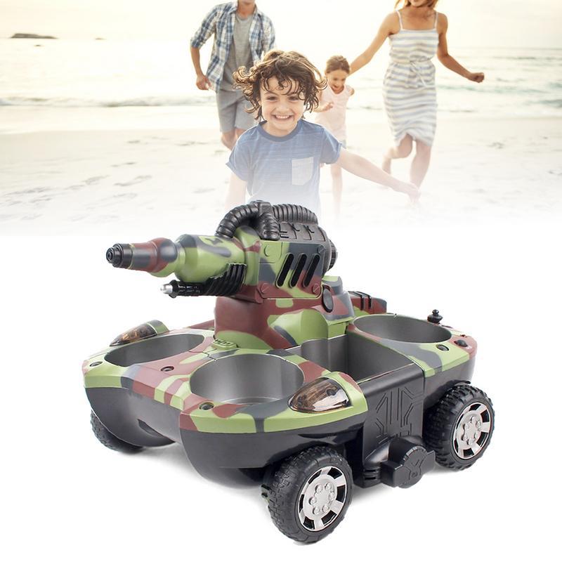 RC tanque anfibio Radio Control Rc Kit tierra agua robótica Control remoto tanque juguete para niños modelo Rc plástico militar batalla de juguete - 3