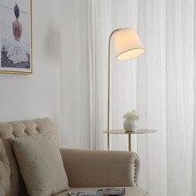 Nordic LED Marble Floor Lamps Bedroom Living Room Restaurant Lighting Decor Lights Bedside Standing Fixtures