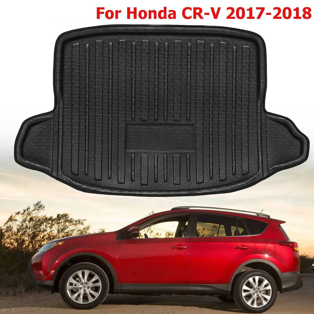 Supply Car Rear Trunk Boot Liner Cargo Mat Rear Trunk Floor Mat Tray Protector Carpet For Honda For Cr-v 2017 2018 Sufficient Supply Automobiles & Motorcycles