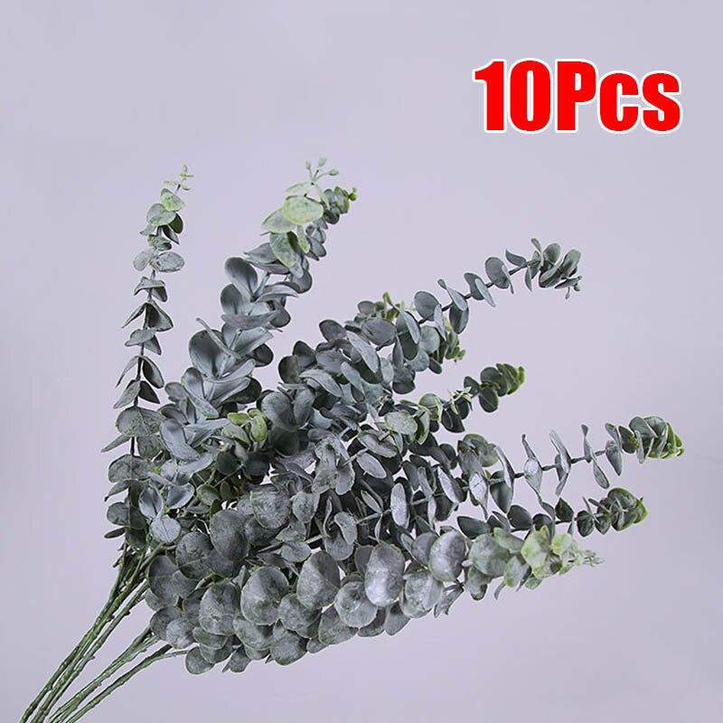 10 * Plante artificielle Artificielle Faux Feuille D'eucalyptus Plante Verte Guirlande décoration de mariage d'intérieur