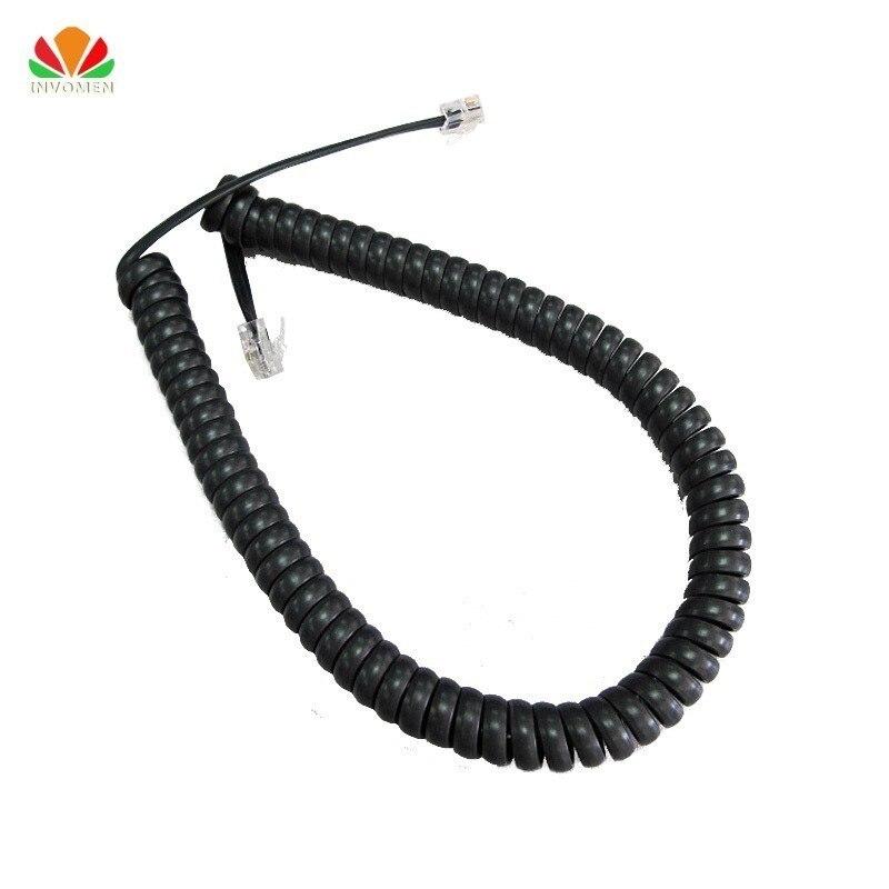 Hot 35cm cordon téléphonique redresser 2m Microphone récepteur ligne RJ22 4P4C connecteur fil de cuivre téléphone courbe de Volume câble du combiné