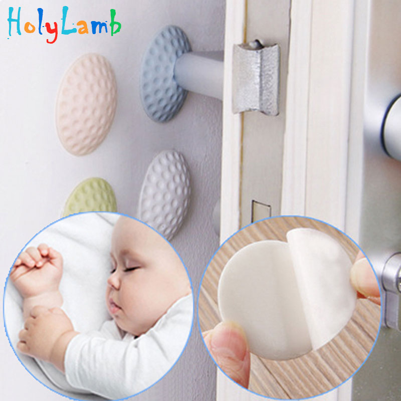 4Pcs/Lot Protection Baby Safety Shock Absorbers Security Card Door Stopper Child Lock Protection From Children