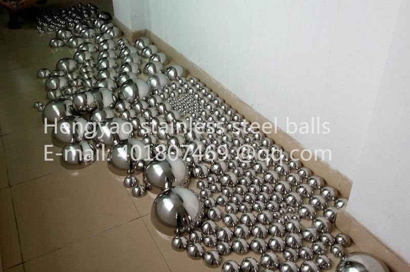 Gümüş Dia 100mm 10cm 304 paslanmayan polad içi boş - Ev dekoru - Fotoqrafiya 2