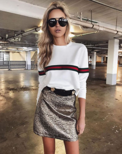Fashionable Stock Women's   Blouse   Tops Striped   Shirts   Lady Loose Casual Long Sleeve Casual Top Cotton
