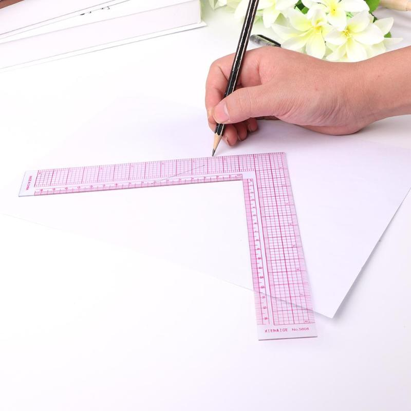 Sewing Patchwork Quilting Ruler Plastic Garment Cutting Craft Scale Rule Drawing Stationery Supplies Tool 21.5*21.5cm 5x30cm