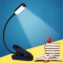 Vintage hierro Led Clip lámpara de escritorio interruptor de palanca protección ocular lectura libro luz recargable Usb Led lámparas de Mesa para el dormitorio