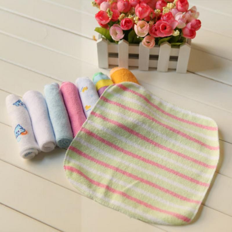8pcs/pack Cotton Newborn Baby Towels Saliva Bibs Towel Nursing Towel Baby Washcloth Handkerchief For Kids Soft Square Towel Suit