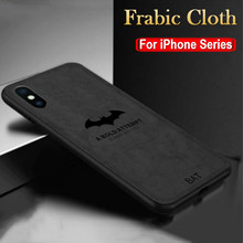 Luxury Bat Deer Pattern Cloth Phone Cases For iphone 6 6S 7 8 Plus Silicone Cover For iphone X XS 11 Pro Max XR Soft Funda Cases cheap DREAMYSOW Fitted Case Apple iPhones Matte Dirt-resistant Anti-knock Adsorption