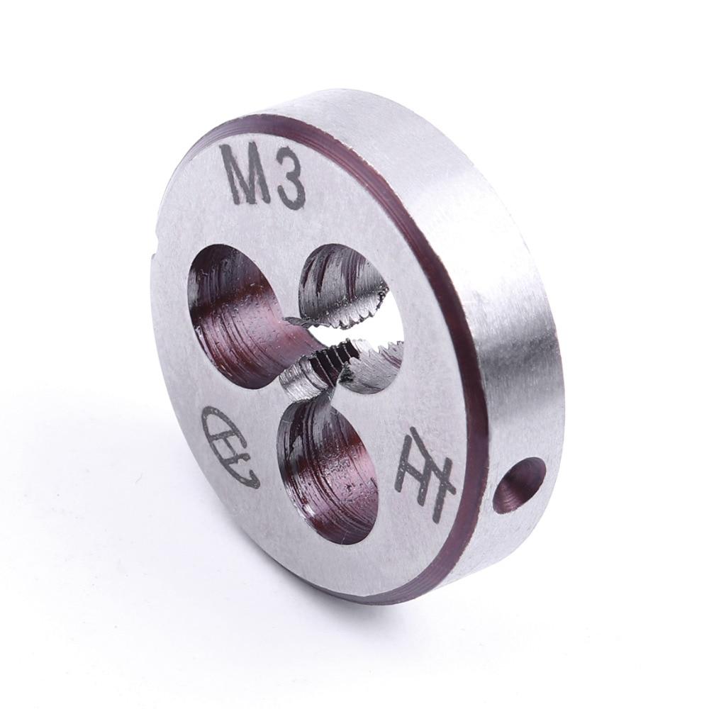 M3 M4 M5 M6 M8 Mini Round Metric Dies  High Hardness Alloy Steel Durable Metric Left Die Threading Tools