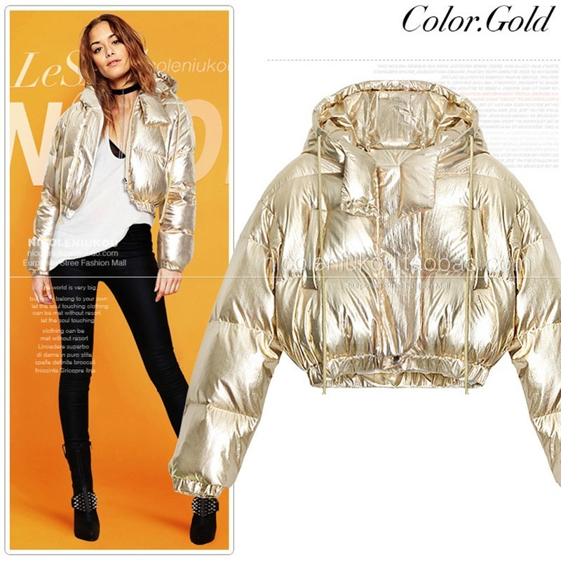 Constructive Women Winter New Puffer Down Jacket 2019 Fashion Tide Gold Silver Glossy Loose Basic Coat Casual Warm Windproof Waterproof Pl25 More Discounts Surprises Women's Clothing