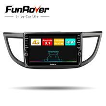Funrover Octa core Android8.1 2din автомобильный Радио Мультимедийный dvd gps плеер для Honda CRV CR-V 2011-2015 стерео навигация DSP 4 г оперативная память