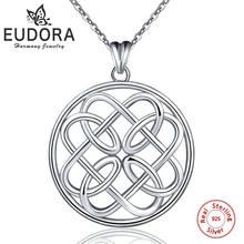 Eudora good lucky irish Круглый узел сердце 100% Стерлинговое