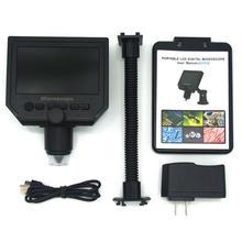 Новый 600x увеличение 3.6MP USB цифровой электронный микроскоп точность Ремонт Портативный 8 светодио дный VGA промышленный микроскоп