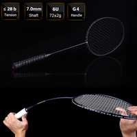 Ultralight Badminton Racket 6U 72g For Sport Contest New Professional Carbon Free Grips And Wristband Badminton Racquet
