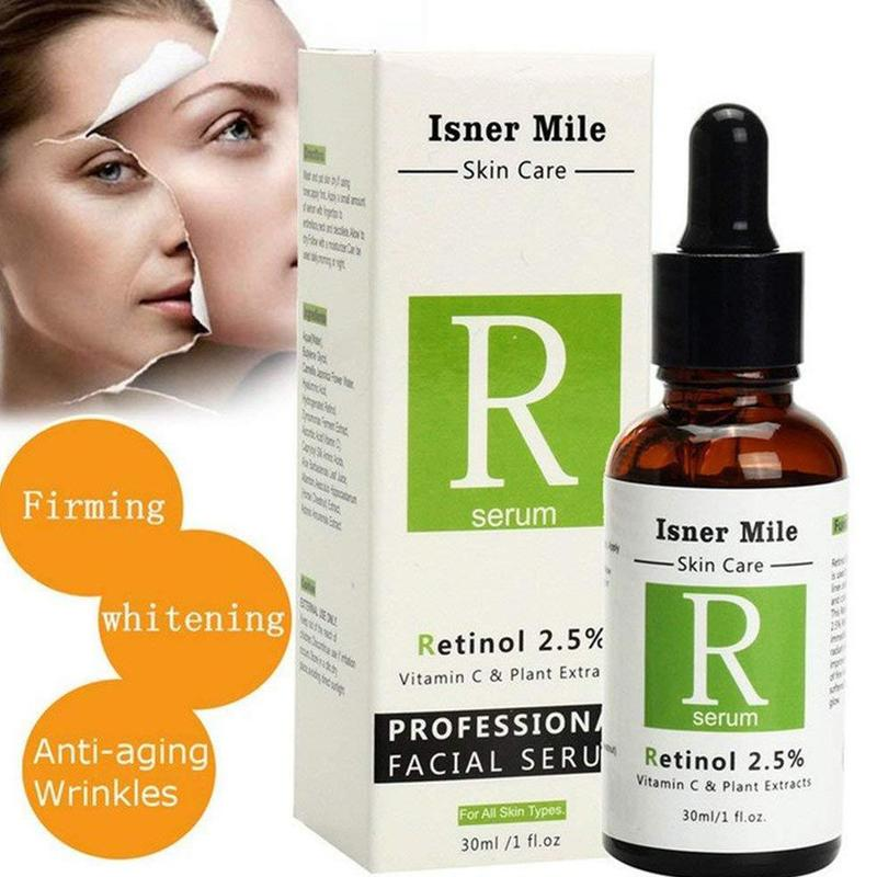 Face Facial Serum Vitamin C Anti Wrinkle Anti Acne Retinol 2.5% Serum Firming Repair Skin Anti Aging Serum Lifting Skin Care
