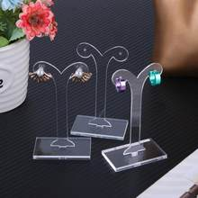 Jewelry Display Rack Shoot Acylic Earring Display Stand Holder White Jewelry Accessories For Girl And Women Earring Hanger(China)