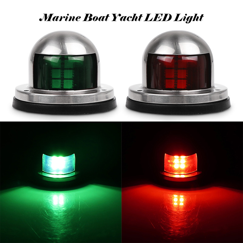 Cheap Sale 1pair 12v Marine Boat Yacht Led Bow Navigation Light Stainless Steel Red Green Sailing Signal Light Atv,rv,boat & Other Vehicle