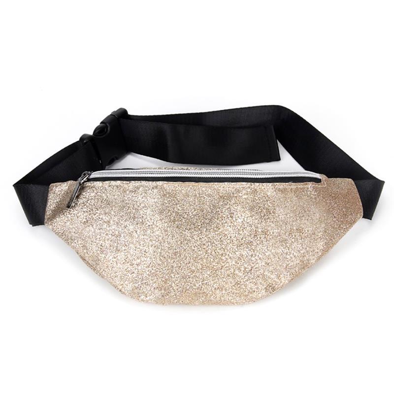 Fashion Laser Fanny Pack Hip Waist Belt Pouch Women Unisex Sequin Bag Outdoor Sports Bags For