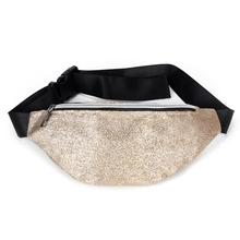 Fashion Laser Fanny Pack Hip Waist Belt Pouch Women Unisex Sequin Bag Outdoor Sports Bags For