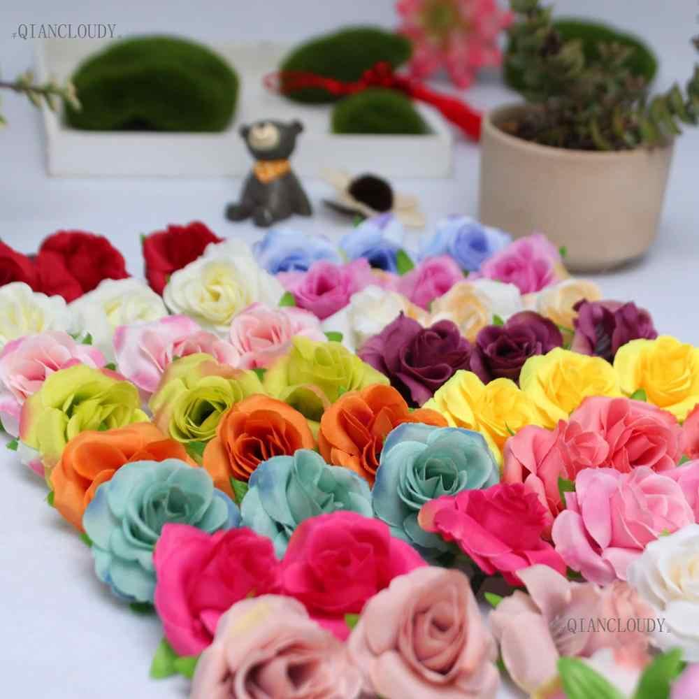 1 miếng Nhân Tạo handmade Tăng Châu Âu Camellia nụ Silk flower Heads Hoa Thủ Công Vòng Hoa đám cưới trang trí vòng hoa D76