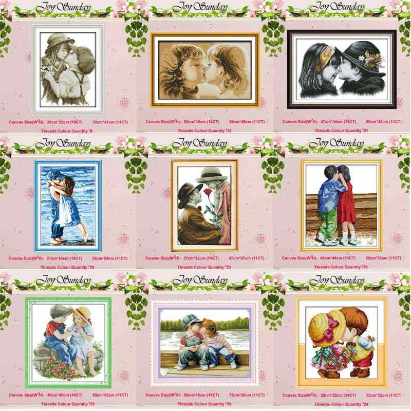 Lovely lovers Innocence girl boy child Cross Stitch 11CT 14CT Cross Stitch Set DIY DMC Cross-stitch Kit Embroidery Needlework