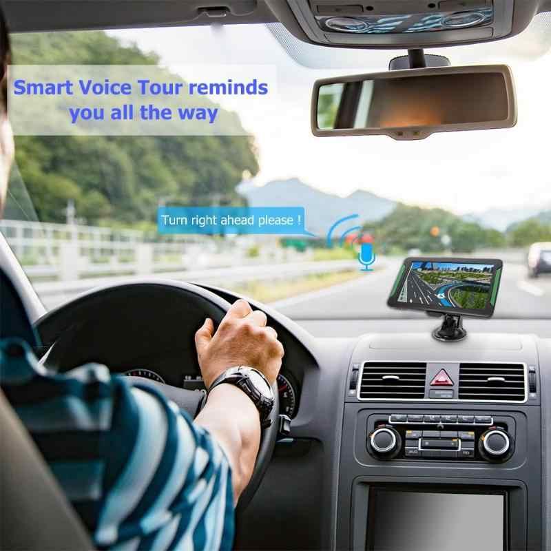 S7 7 pouces 8GB Portable écran tactile HD voiture GPS Navigation FM émetteur 2018 dernière Europe carte voiture camion GPS navigateur