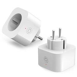 2 pces elelight pe1004t tomada de controle remoto inteligente com função de temporização conexão wi-fi e função de controle de voz