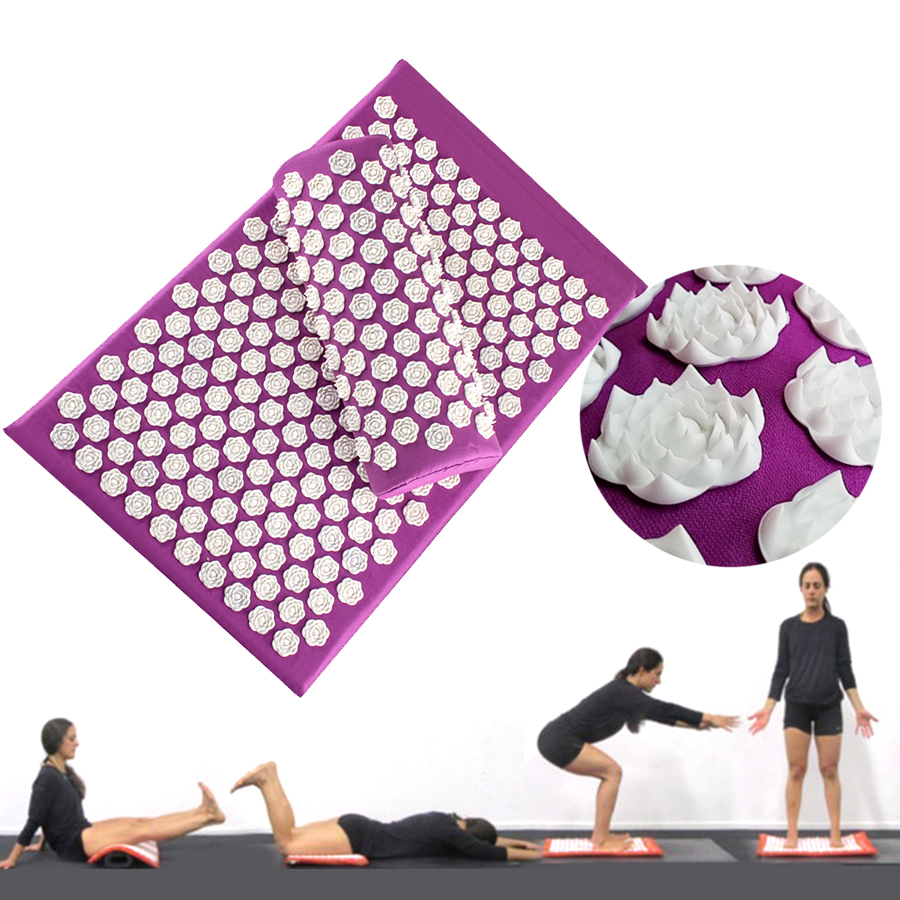 Lotus Spike Body Massager Cushion Acupuncture Set Relieve