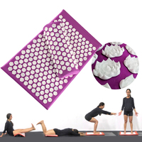 Lotus Spike Body Massager Cushion Acupuncture Set Relieve Stress Back Pain Yoga Mat/Pillow shiatsu Massage Mat Health Care relax