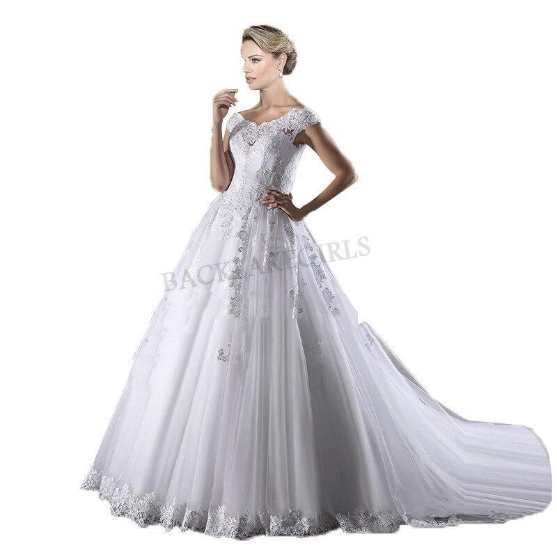 Vestidos De Novia 2019 Design Wedding Dress Luxury Lace Appliques A Line Dresses Wedding Gowns Custom Made Vestidos De Novias