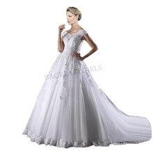 2019 Design Wedding Dress Luxury Lace Appliques A Line