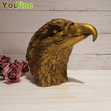 Pure copper eagle ornaments business gifts opening head crafts office furnishings home accessories