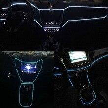 JURUS Universal 3Meter 10 Colors 12V Car Styling Flexible Neon Light Glow EL Wire Strip Car Led Decoration Auto Accessories Lamp