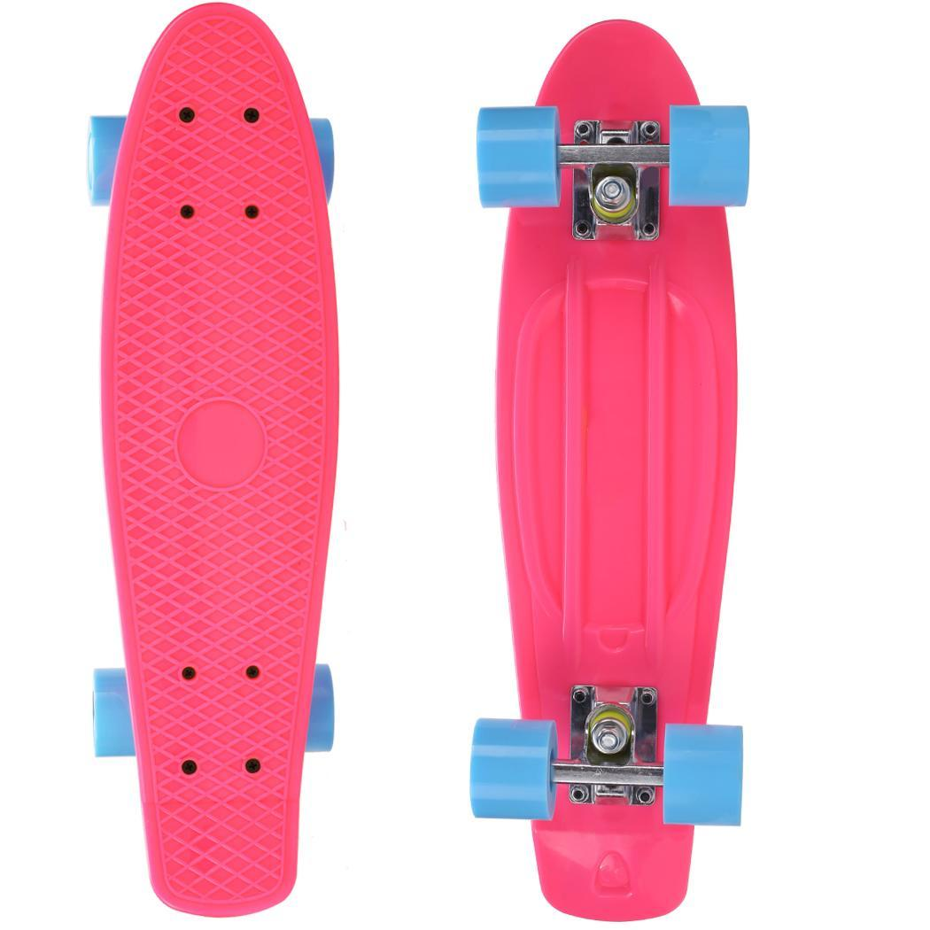 Image 4 - 22inches  Skateboard Four wheel  Skateboard Street Outdoor Sports For Adult or Children Longboard Skate Board  for Girl Boy-in Skate Board from Sports & Entertainment