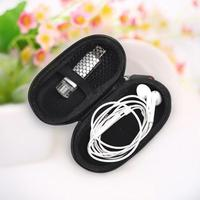 Portable In Ear Earphone Headphone Storage Bag USB Cable Case Holder Organizer Good quality
