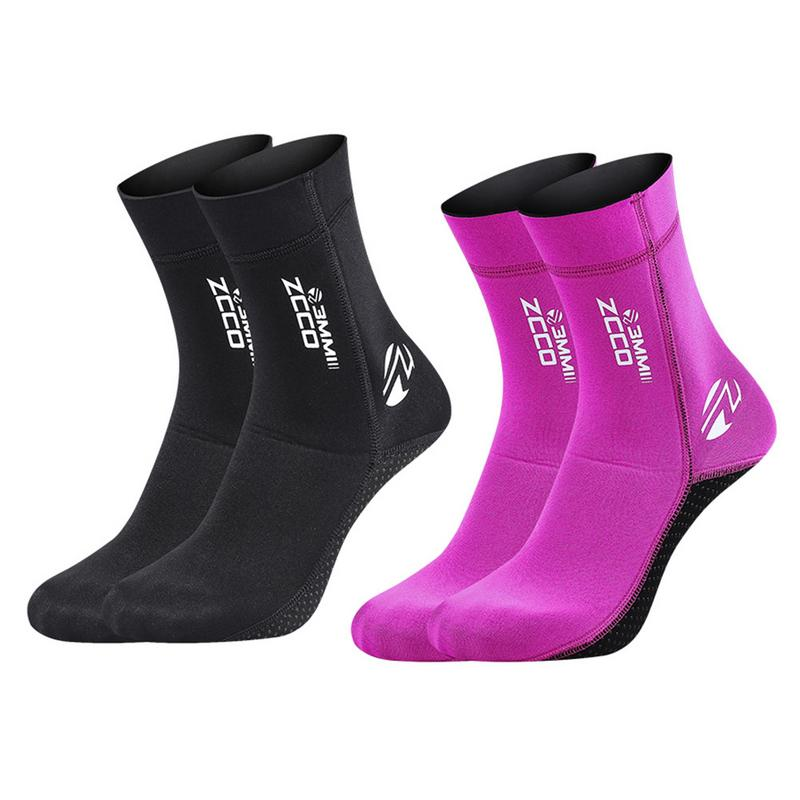 Diving Socks 3mm Neoprene Beach Socks Boots Water Shoes Beach Booties Snorkeling Diving Surfing Boots For Men Women