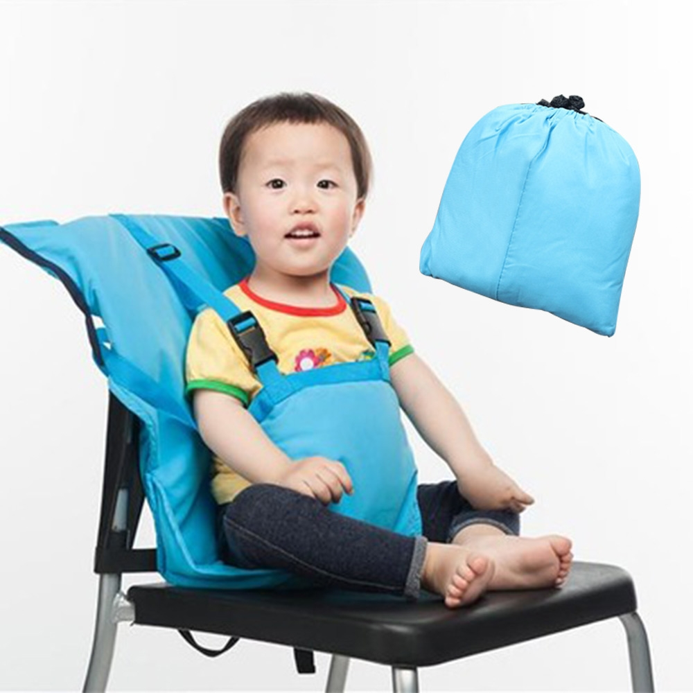 Baby Bag Chair Portable Infant Feeding Seat Safety Belt Booster Seats Foldable Washable Dining Lunch Feeding Harness High Chair travel baby booster seat harness random straps portable fold washable baby dining chair seat bag cute baby feed chair bag