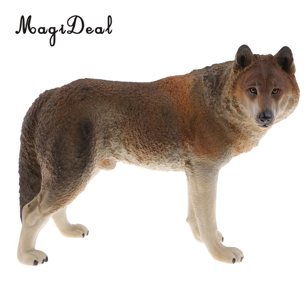 Wolf Model Toy Material Decoration Gifts Props Accessories Collection Durable