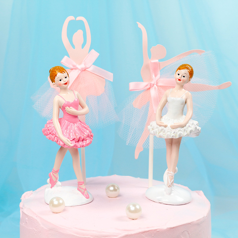 Ballerina Girl Cake Topper Kids Birthday Party Cake Decor Ballerina Party Decorations Ballerina Party Centerpiece Pick button