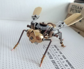 New-Special-Foundry-Steampunk-Diy-Mechanical-Insect-All-Metal-Top-Quality-Bumblebee-From-Cybertron-Real-Scary